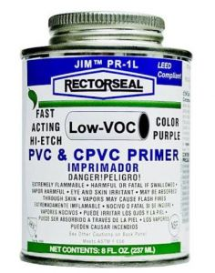 PVC PRIMER/CLEANER PURPLE - 8OZ