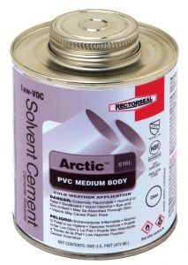 PVC CEMENT LOW TEMP MED BODY CLEAR - 16OZ