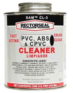 PVC CLEANER CLEAR - 160Z