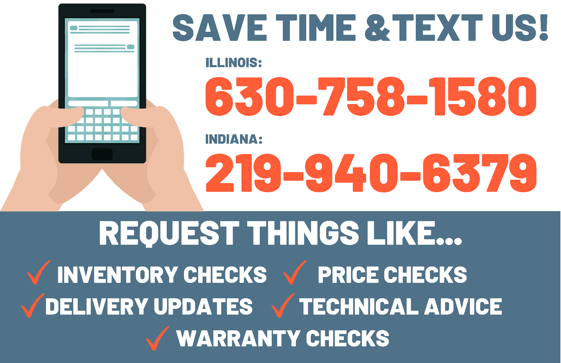 Save Time and Text Us